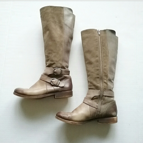 Lucky Brand Shoes - Lucky Brand Zatchi Leather Brindle Tall Knee Boots